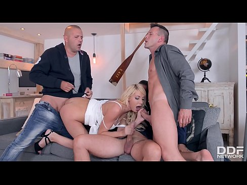 Fat hot double penetrated