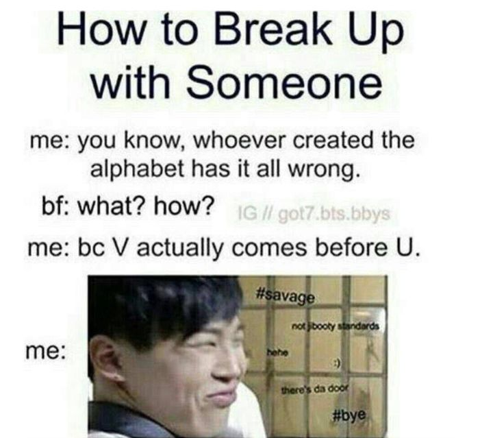 Bts he breaks up with you