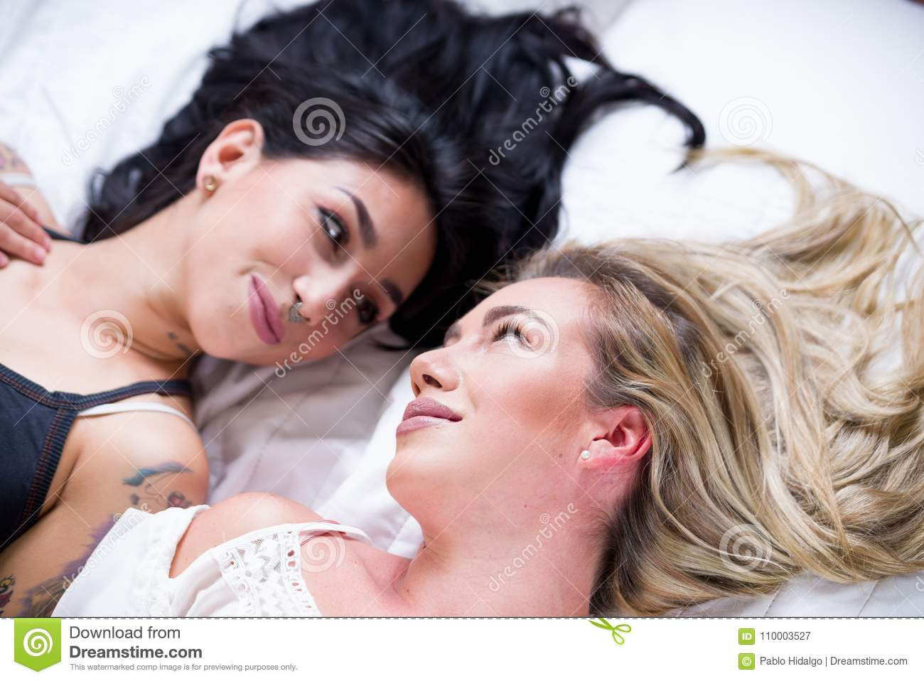 Beautiful lesbians in bed