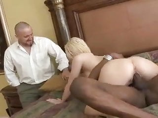 My hairy blond mature wife goes black